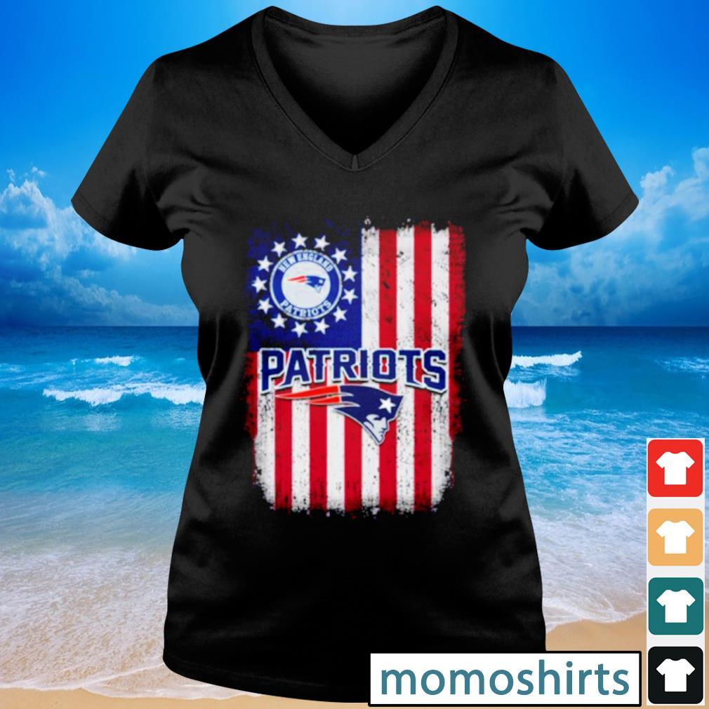 New England Patriots Betsy Ross flag s V-neck t-shirt