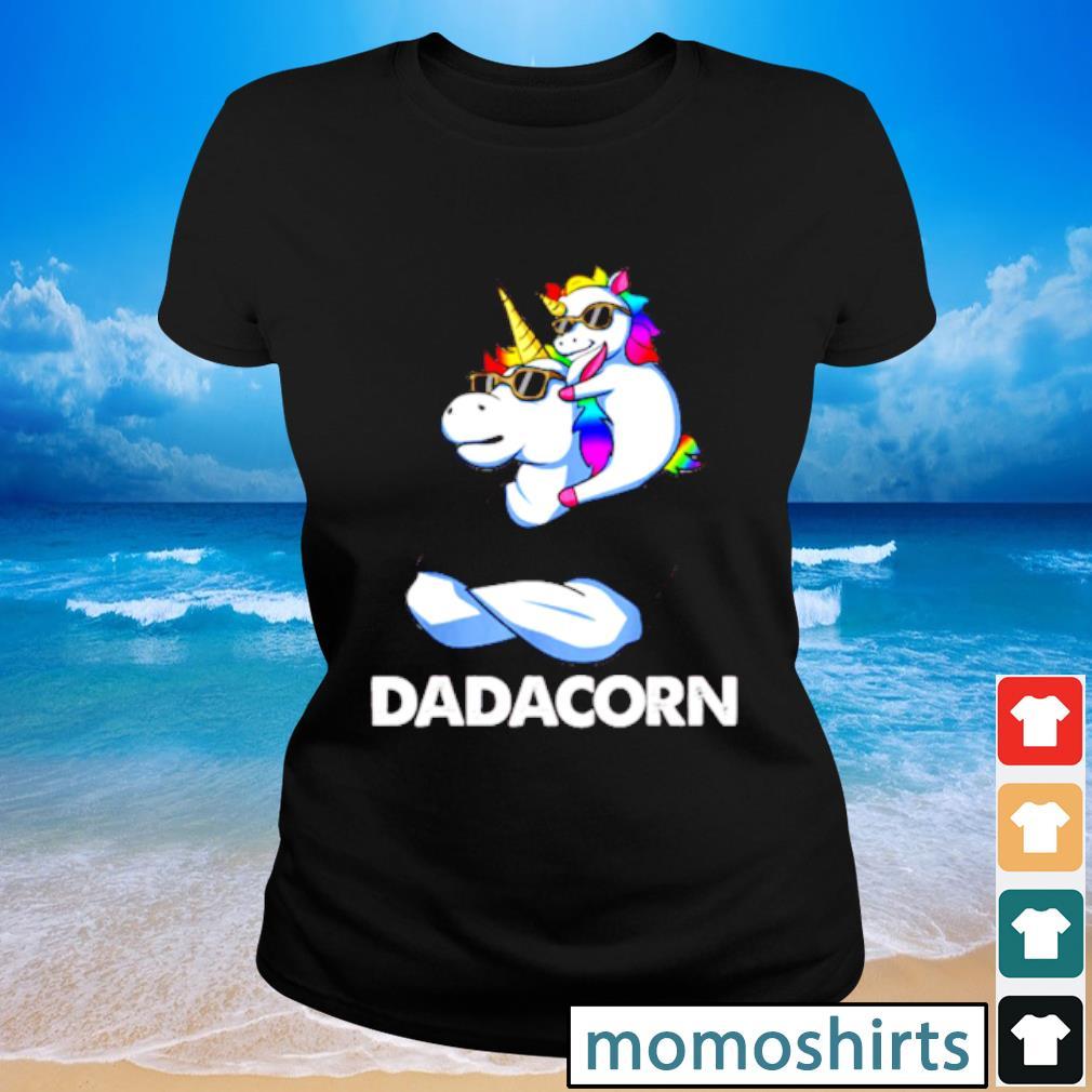 Nice Trend Dadacorn Unicorn Dad and Baby Sunglass s Ladies-tee