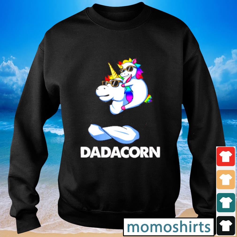 Nice Trend Dadacorn Unicorn Dad and Baby Sunglass s Sweater