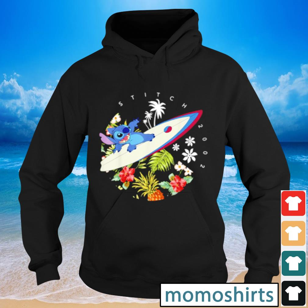 Pretty Disney Lilo And Stitch Surfing Tropical Circle Portrait s Hoodie