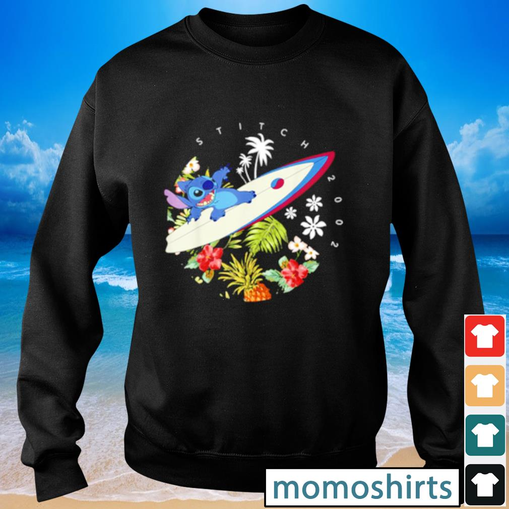 Pretty Disney Lilo And Stitch Surfing Tropical Circle Portrait s Sweater
