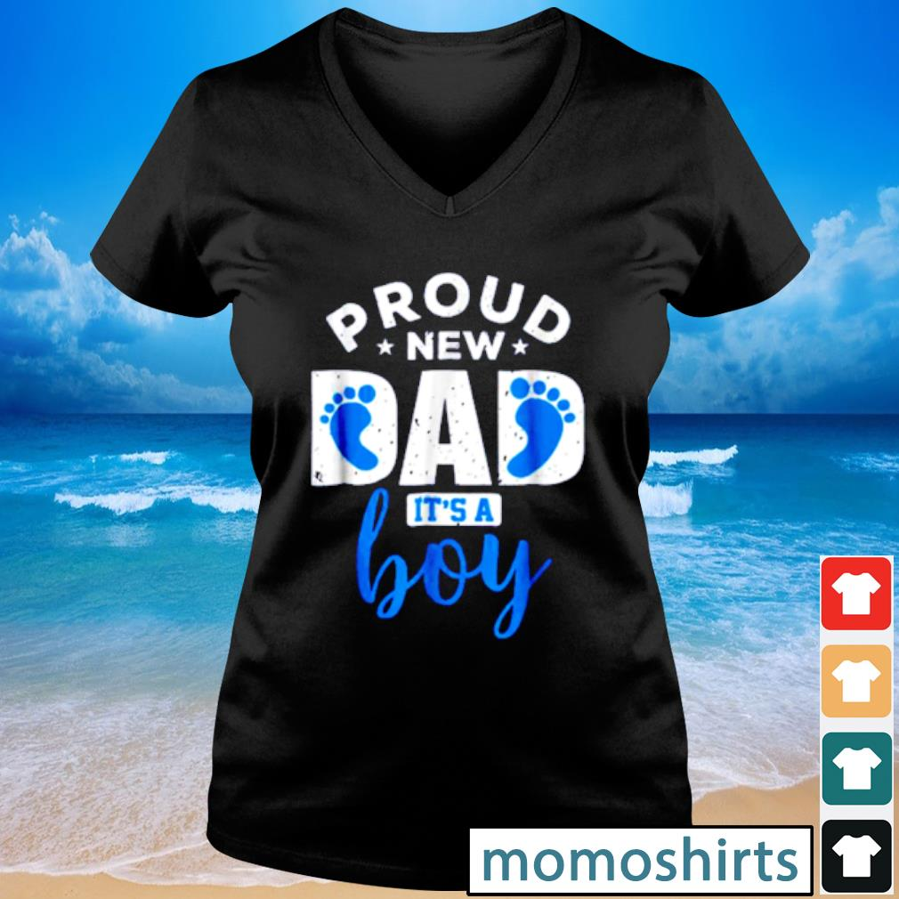 Pretty Proud New Dad it's A Boy s V-neck t-shirt