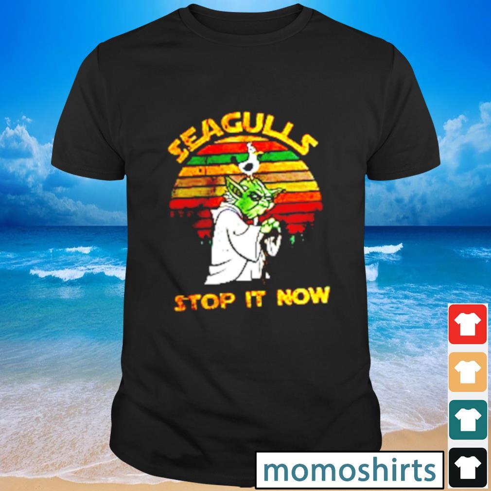 Yoda Seagull Stop It Now vintage shirt