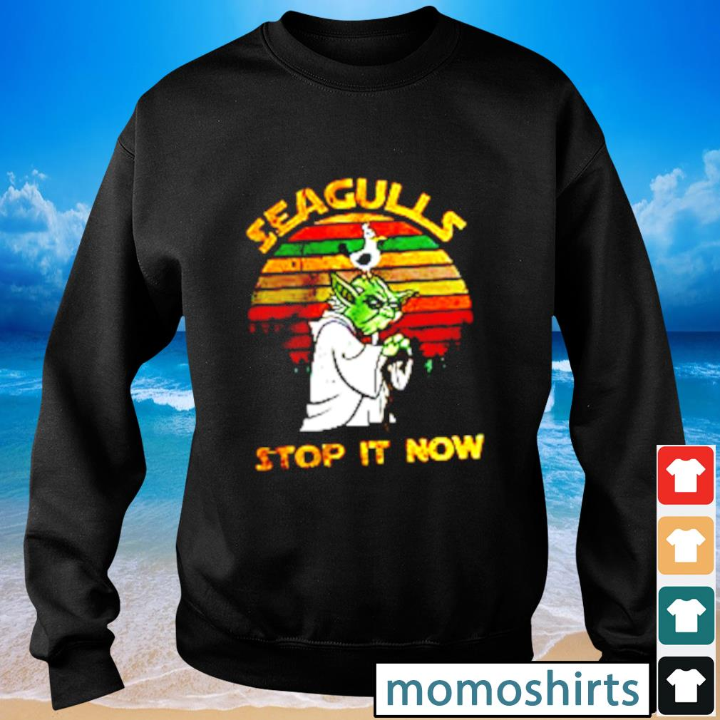 Yoda Seagull Stop It Now vintage s Sweater