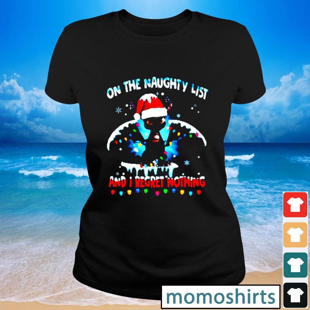 Dragon on the naughty list and I regret nothing Christmas s Ladies-tee