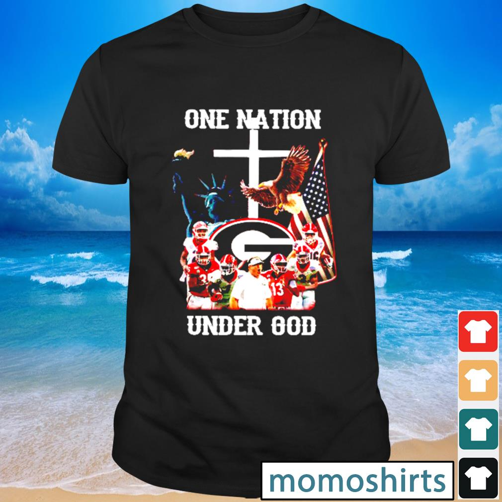 Georgia Bulldogs one nation under God shirt
