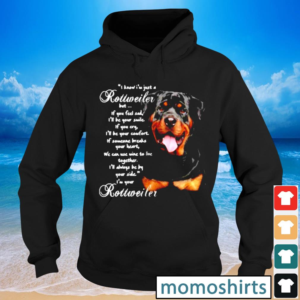 I Know I'm just a Rottweiler but If you feel sad I'll be your smile If you cry s Hoodie