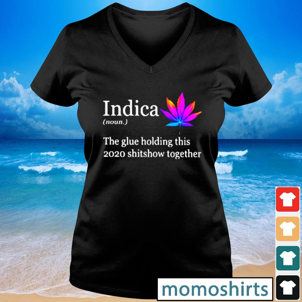 Indica the glue holding this 2020 shitshow together s V-neck t-shirt