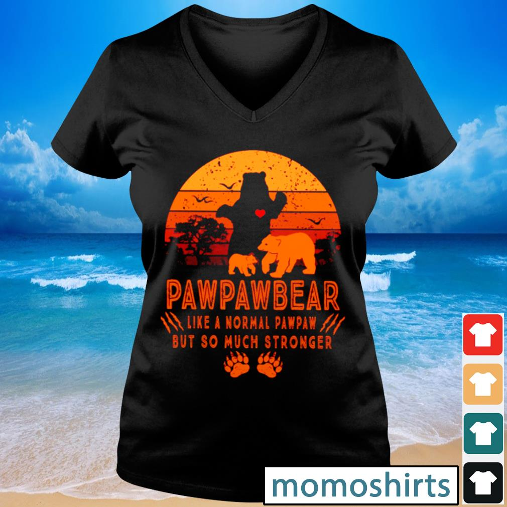 Pawpawbear like a normal pawpaw but so much stronger vintage s V-neck t-shirt