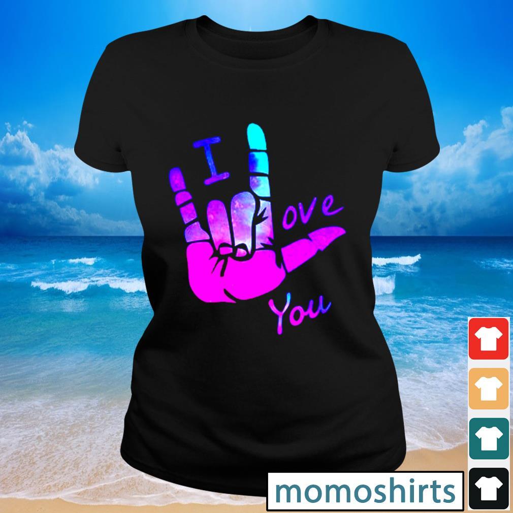 Sign language I love you s Ladies-tee