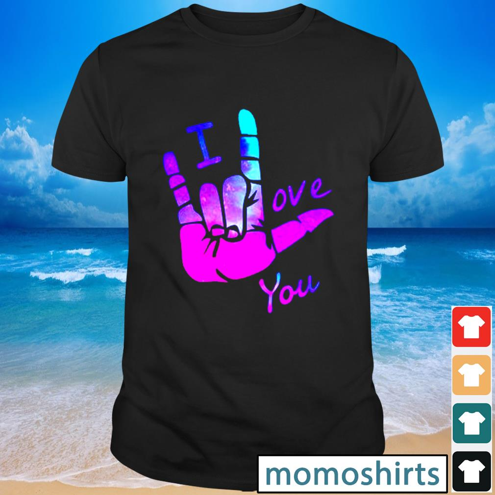 Sign language I love you shirt