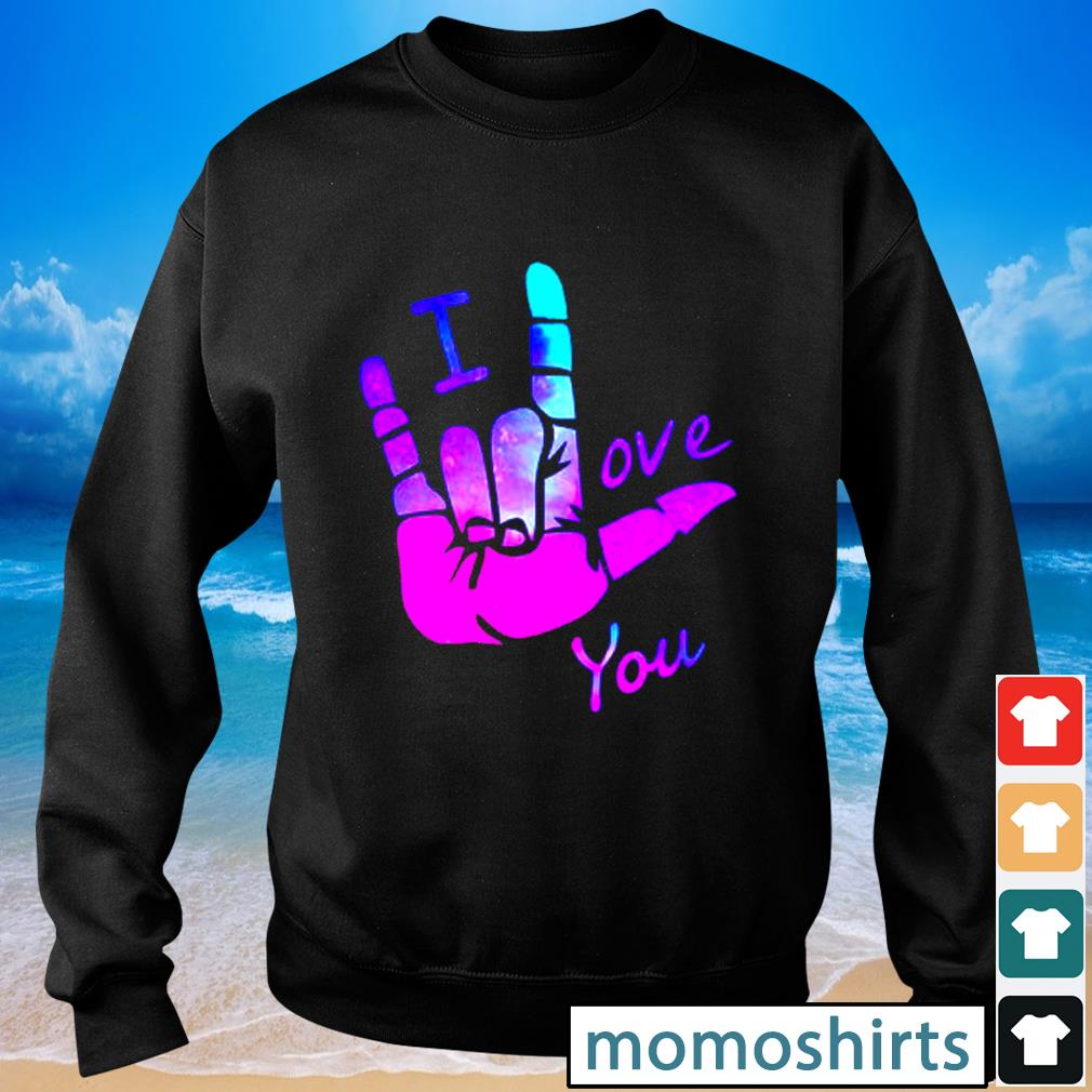 Sign language I love you s Sweater