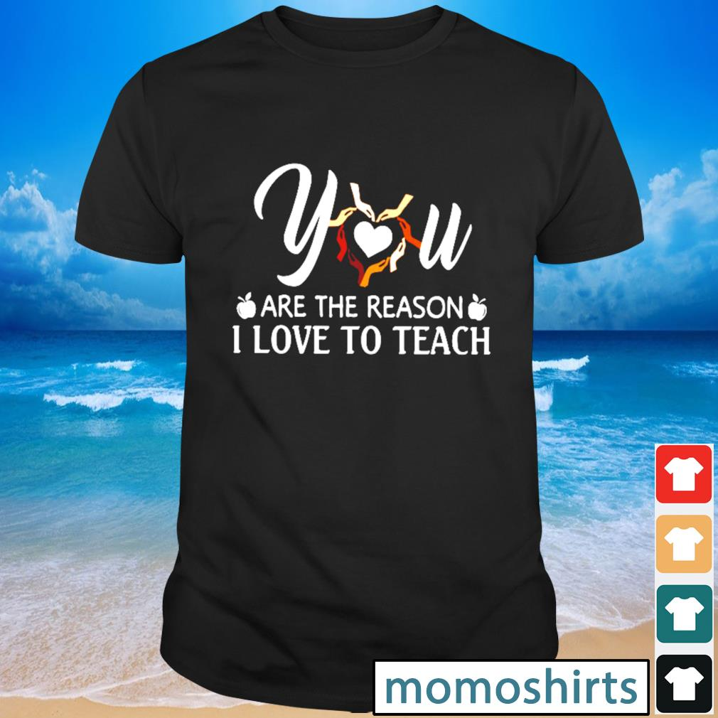 You are the reason I love to teach shirt