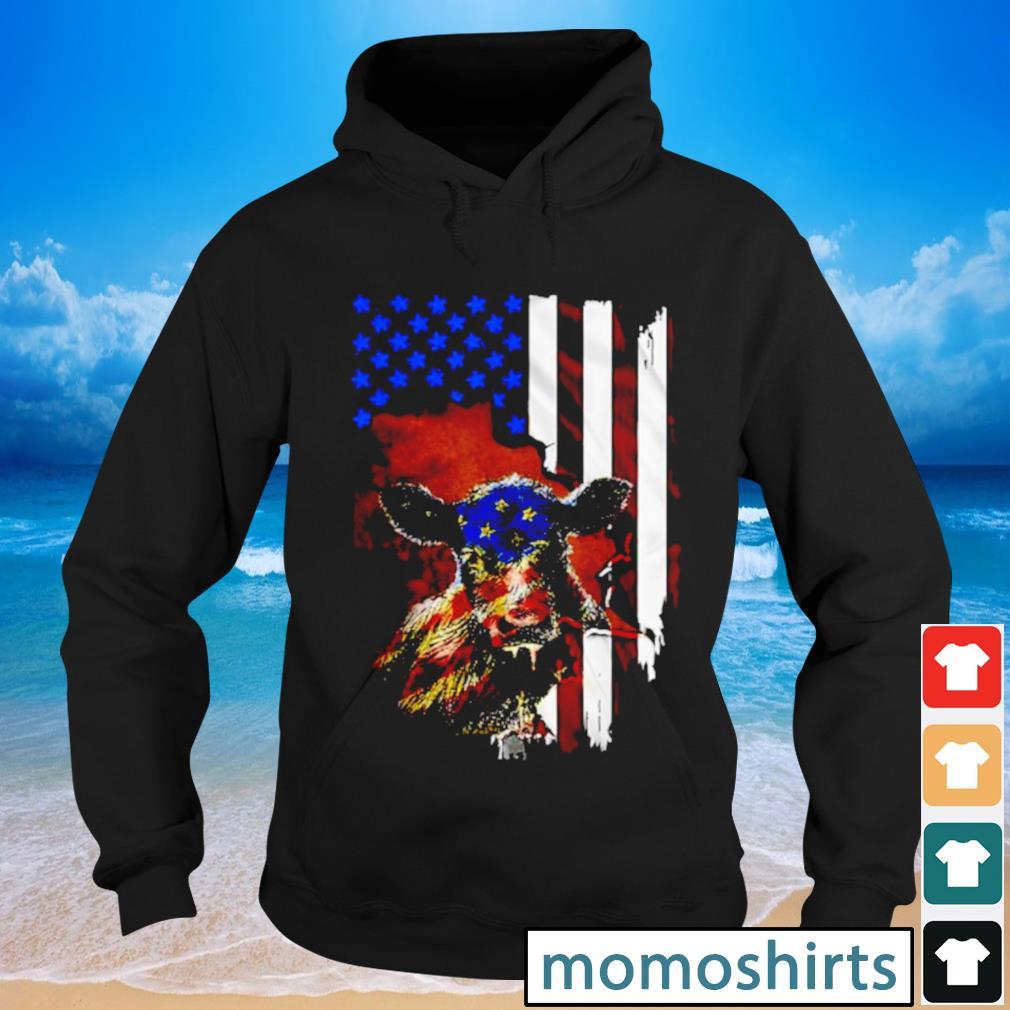 Cow American flag s Hoodie