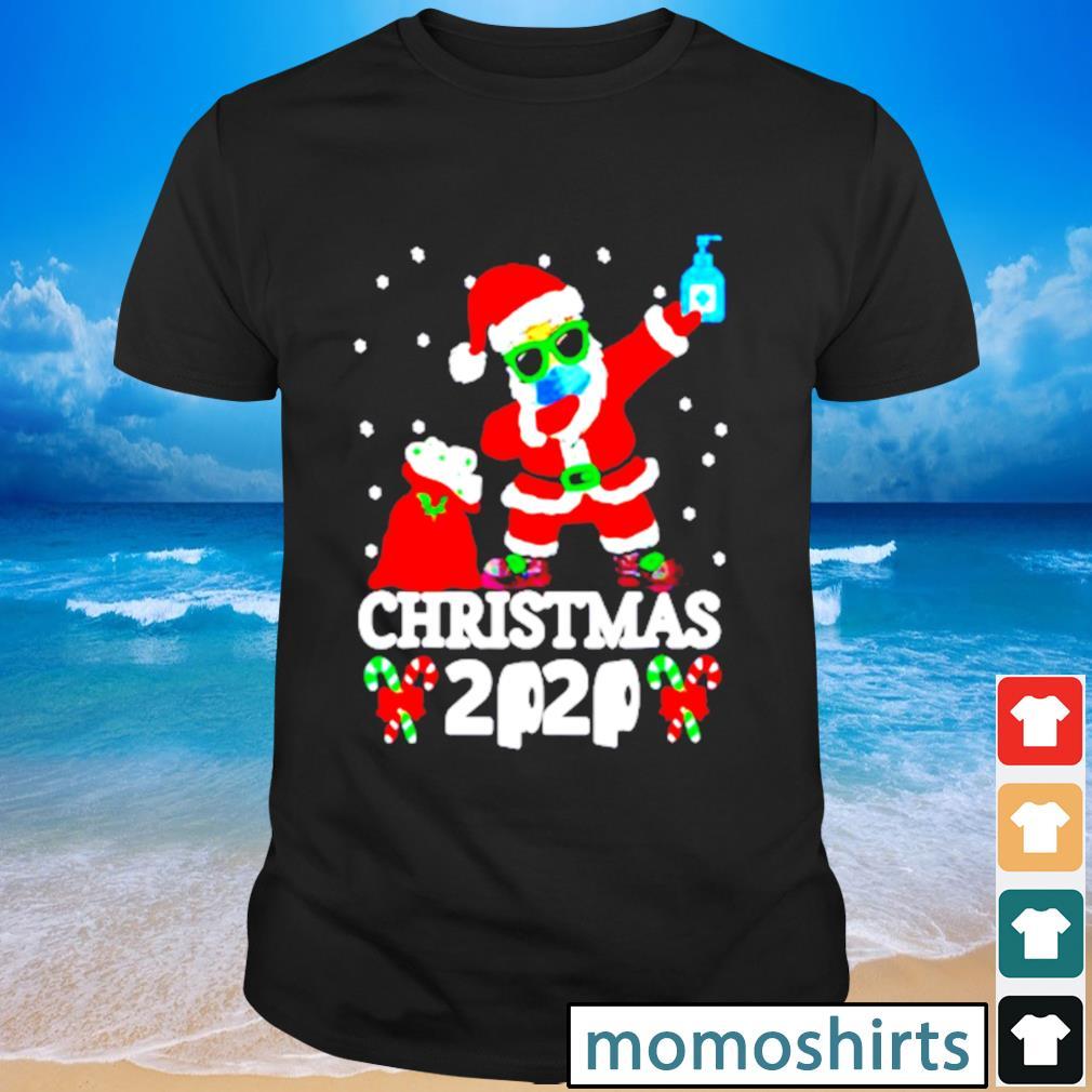 Dabbing Santa face mask toilet paper Christmas 2020 shirt