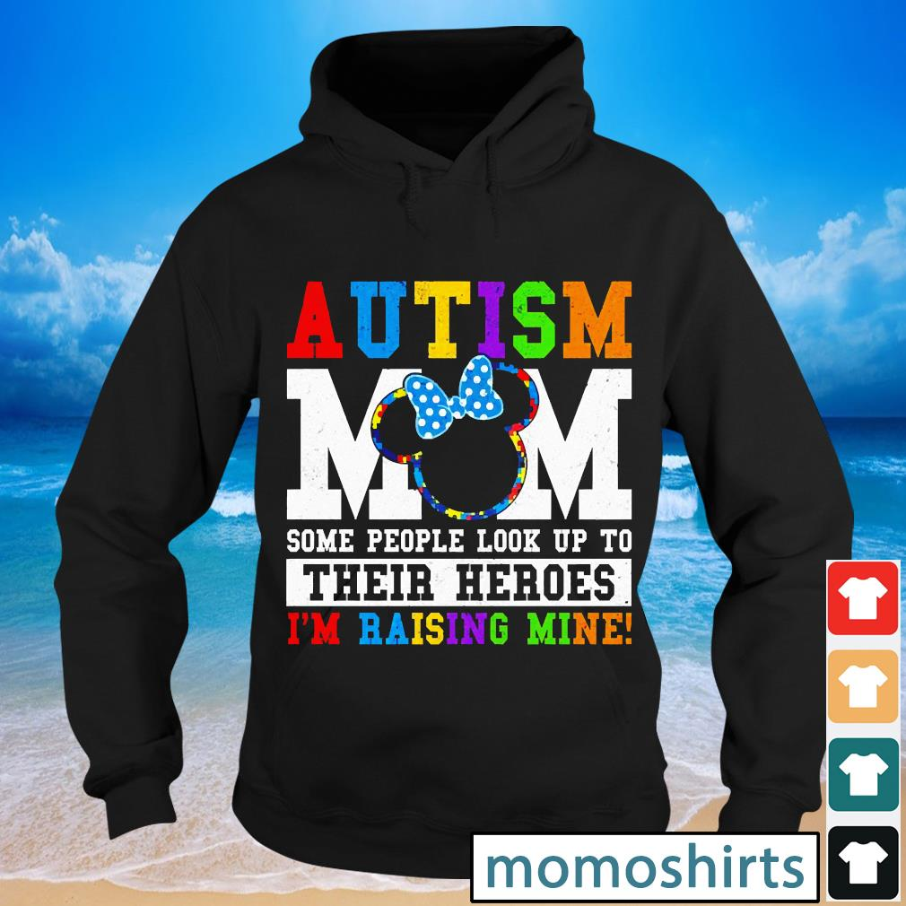 Minnie Mouse Autism Mom awareness s Hoodie