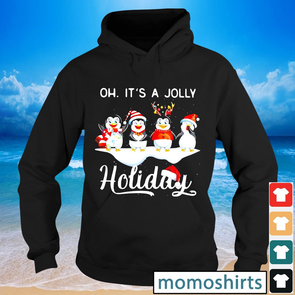 Penguins Oh It's A Jolly Holiday Christmas s Hoodie