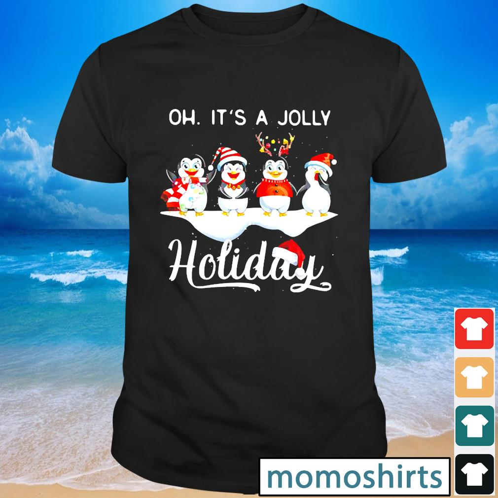 Penguins Oh It's A Jolly Holiday Christmas shirt