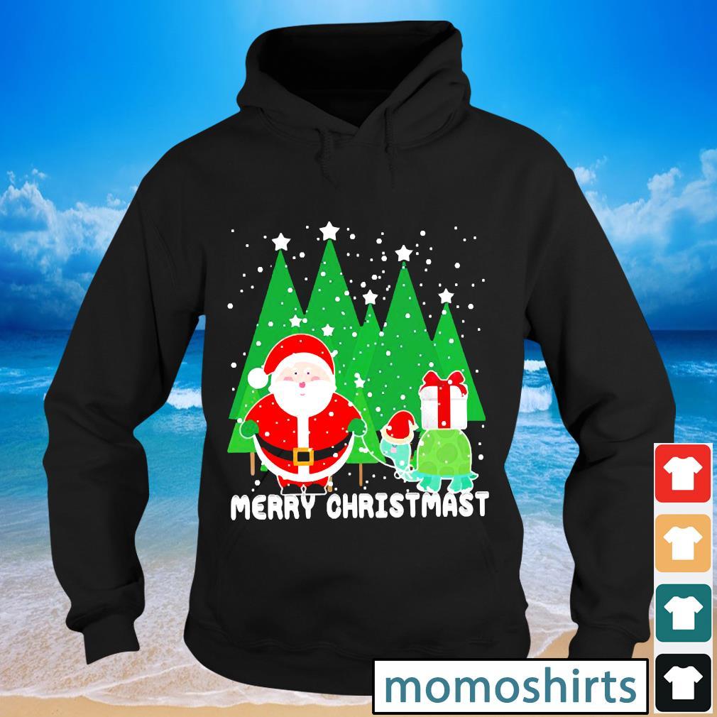 Santa and turtles Merry Christmas s Hoodie