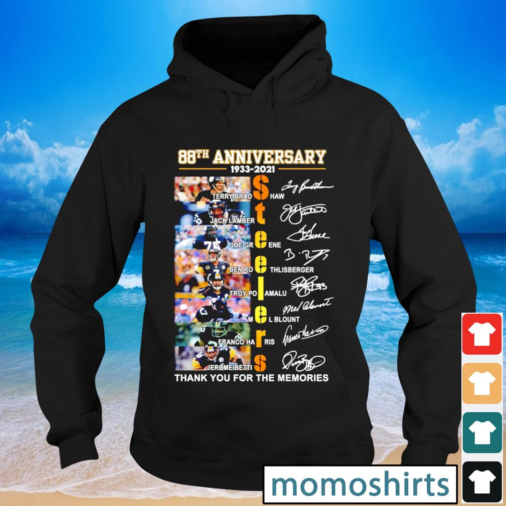 Pittsburgh Steelers 88th anniversary 1933 2021 thank you for the memories signature s Hoodie