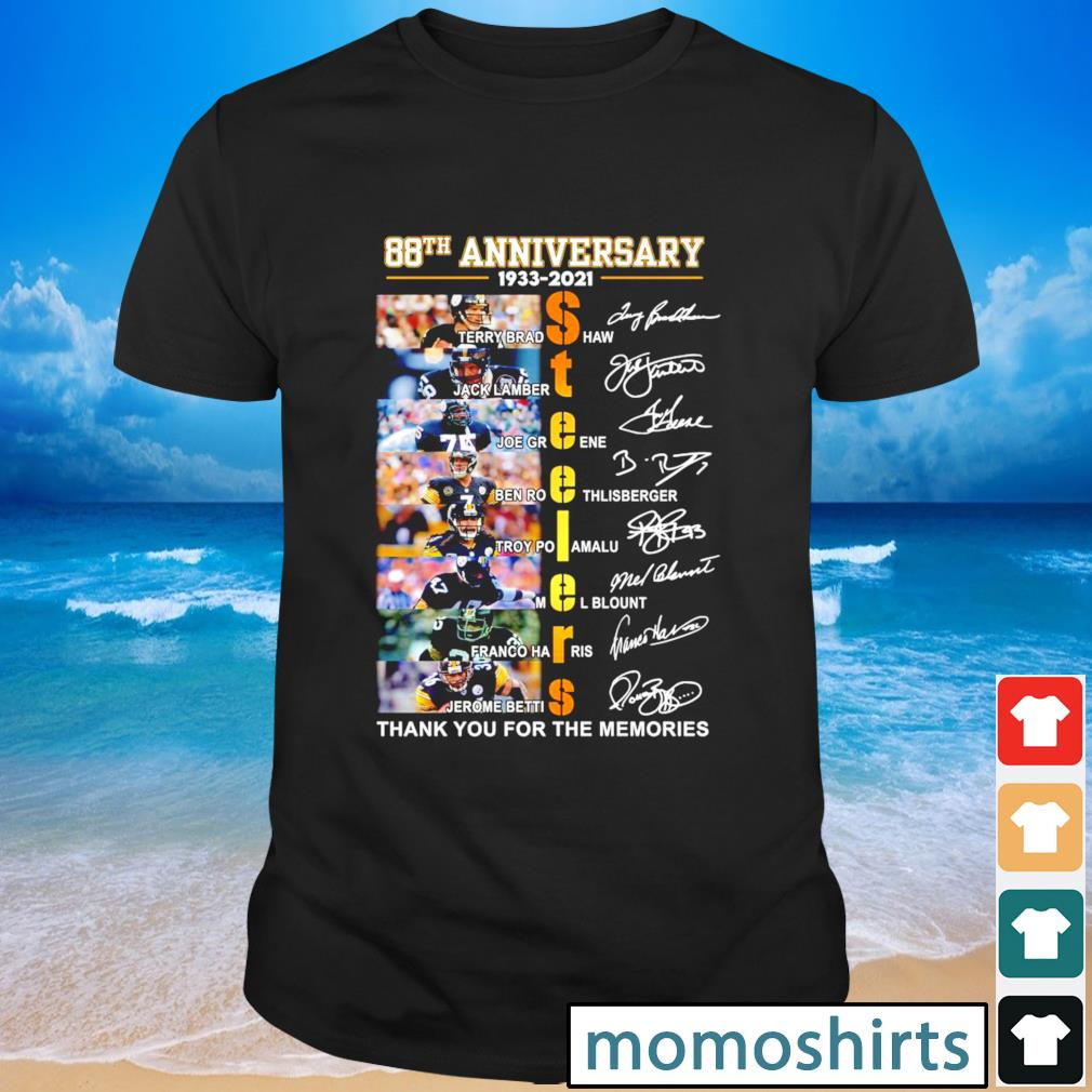 Pittsburgh Steelers 88th anniversary 1933 2021 thank you for the memories signature shirt