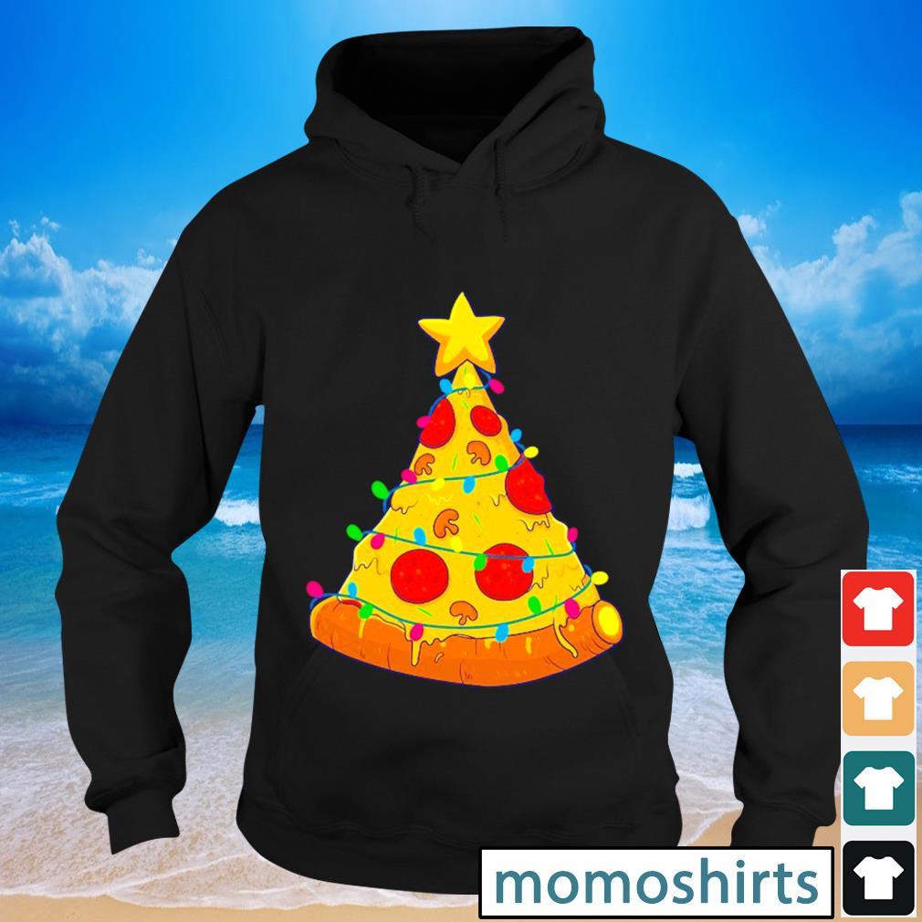 Pizza Christmas tree Lights Xmas s Hoodie