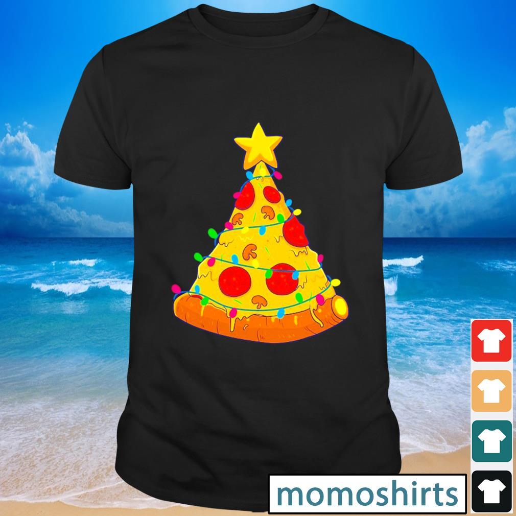Pizza Christmas tree Lights Xmas shirt