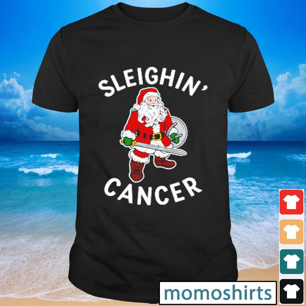 Santa Claus sleighin' cancer shirt
